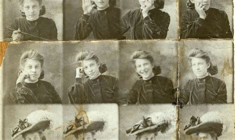 36 Early Photo Strips of Edwardian People in the 1900s and