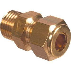 RACCORD SANITAIRE LAITON FEMELLE COUDE A 105° A COMPRESSION