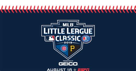 Pirates, Cubs to Play in 2019 MLB Little League Classic