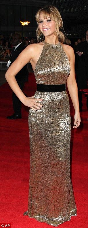 Jennifer Lawrence goes for ANOTHER gold dress at Hunger