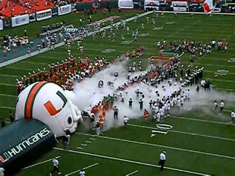THE NEW ENTRANCE OF THE MIAMI HURRICANES