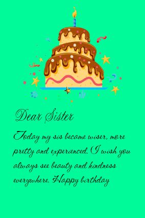 Happy birthday letter for sister   Birthday letters