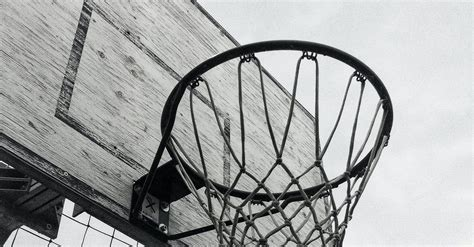 Free stock photo of Basketball Hoop, black and white, board