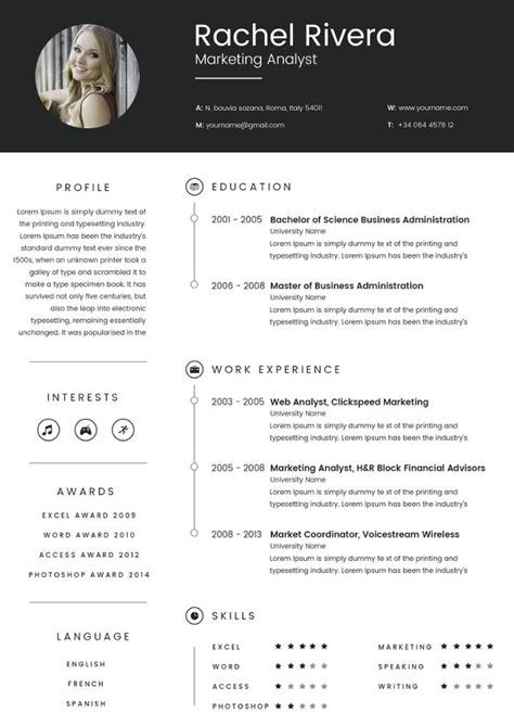 Marketing Analyst Resume Template – 16+ Free Samples