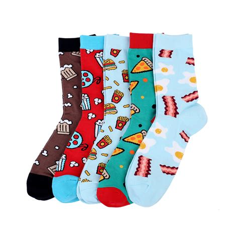 High Quality 200 Needle 80% Combed Cotton Mens Socks Pizza