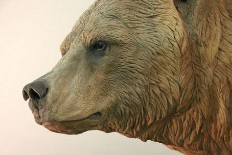 Sculpted grizzly bear face detail for the San Diego Zoo
