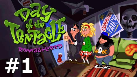 Day of the Tentacle Remastered - Back in Time - PART #1