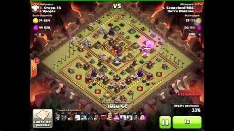 Clash Of Clans : Incroyable perfect! Avec compo hybride