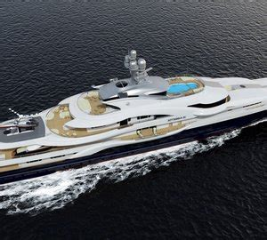Motor Yacht Attessa IV Rendering - View from Above — Yacht