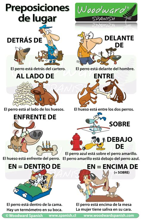 Prepositions of Place in Spanish (con imágenes