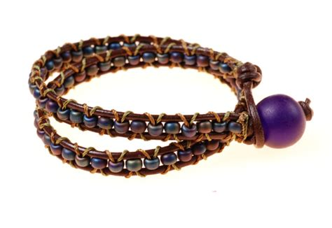 2-Color Wrapped Leather Bracelet