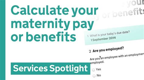 Calculate your maternity pay or benefits on GOV