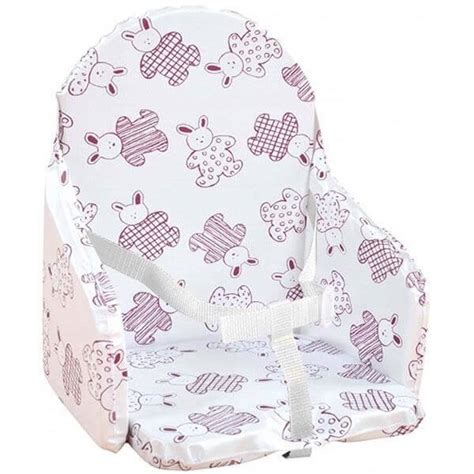 Looping Coussin de Chaise Haute Lapin Cassis - Made In Bébé