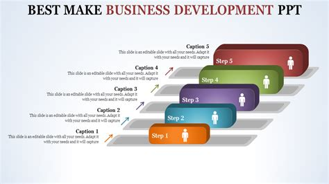 Five Stages Business Development Ppt Templates- SlideEgg